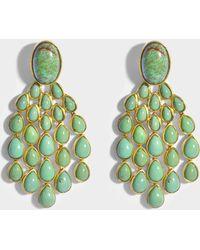 Aurélie Bidermann Cherokee Turquoise Earrings in 18K Gold-Plated Brass Lx9S8U4e