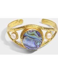 Sylvia Toledano - Abalon Bracelet In 18k Gold Plated Brass And Abalon - Lyst