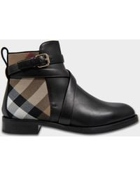 Burberry - Vaughan Boot With Check - Lyst