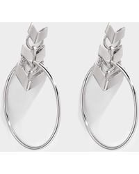 Roberto Cavalli - Aella Round Earrings In Silver - Lyst