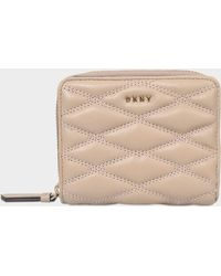 DKNY - Diamond Quilt Small Carryall Wallet - Lyst