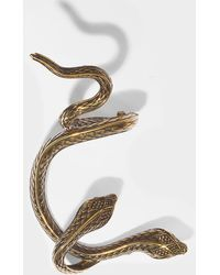 Roberto Cavalli - Snake Mono Earring In Metallic Metal - Lyst
