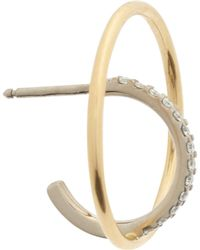 Charlotte Chesnais Saturn XS Mono Earring in Yellow and White 18K Gold and Diamonds xCUb4