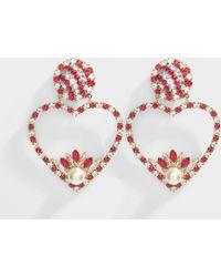 Shourouk - Renata Red Earrings In Red - Lyst
