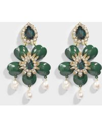 Shourouk - Dahlia Green Earrings - Lyst