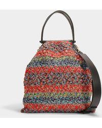 Giorgio Armani - Shopper Bag In Multicolor Calfskin - Lyst