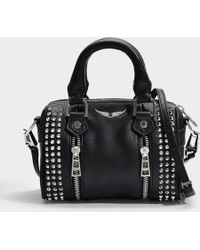 Zadig & Voltaire - Sunny Spike Nano Bag In Black Cow Leather - Lyst