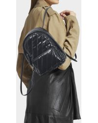 Stella McCartney - Falabella Mini Backpack In Black Synthetic Material - Lyst