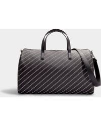 Karl Lagerfeld - K/stripe Logo Weekender In Black Synthetic Material - Lyst