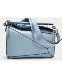 Loewe - Puzzle Bag in Blue Calfskin - Lyst