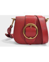 ddec96eb66 Polo Ralph Lauren - Lennox Medium Crossbody Bag In Scarlet Pebble Leather -  Lyst