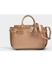73257b6db6 COACH - Double Swagger Bag In Beechwood Calfskin - Lyst