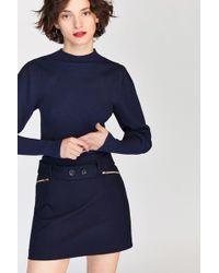 Tara Jarmon - Whipcord Navy Skirt - Lyst