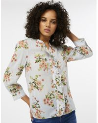 Monsoon - Eva Strawberry Print Frill Shirt - Lyst