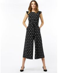 Monsoon - Denna Print Jumpsuit - Lyst