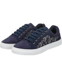 Monsoon - Erica Embroidered Trainers - Lyst