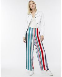 Monsoon - Polly Printed Stripe Trousers - Lyst