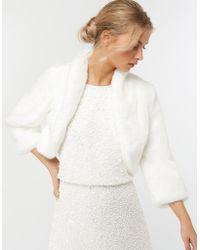 Monsoon - Mary Faux Fur Bridal Jacket - Lyst