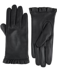 Monsoon | Lily Leather Frill Glove | Lyst