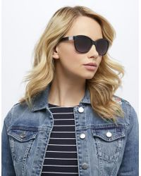 Monsoon - Cynthia Classic Preppy Sunglasses - Lyst