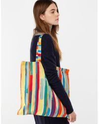 Monsoon - Colourful Stripe Fold Up Shopper Bag - Lyst