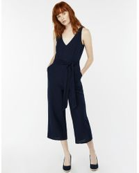 Monsoon - Madge Linen Jumpsuit - Lyst