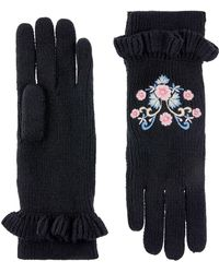 Monsoon - Filiz Floral Embroidered Gloves - Lyst