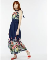 Monsoon - Rosaline Print Midi Dress - Lyst