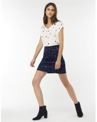 Monsoon - Stevie Spot Skirt - Lyst