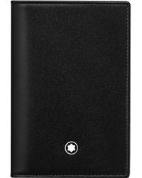 Montblanc - Meisterstück Leather Business Card Holder Pocket Accessories Black - Lyst
