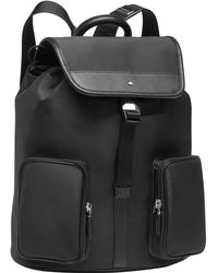 Montblanc - Sartorial Jet Leather & Nylon Backpack - Lyst