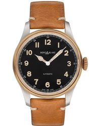 Montblanc - 1858 Automatic Watch 44 Mm Brown Stainless Steel / Bronze - Lyst