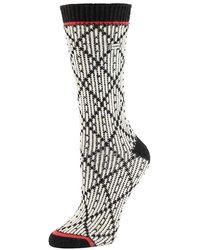 Sorel - Diamond Pattern Crew Sock - Lyst