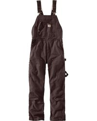 Carhartt - Weathered Duck Unlined Wildwood Bib Overall - Lyst
