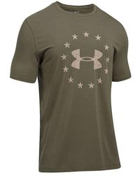 22ec40c6 Lyst - Under Armour Men's Ua Freedom Woodland Camo Compression Shirt ...