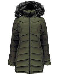 Spyder - Syrround Long Faux Fur Down Coat - Lyst