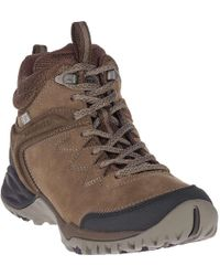 13097dbe338 Lyst - Merrell Women's Salida Mid Waterproof Hiking Boots in Brown