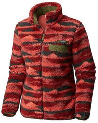 Columbia - Mountain Side Heavyweight Full Zip Fleece In Red - Lyst