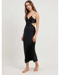 Morgan Lane - Estelle Nightgown In Noir - Lyst