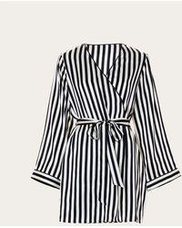 Morgan Lane - Langley Robe In Noir Ecru - Lyst