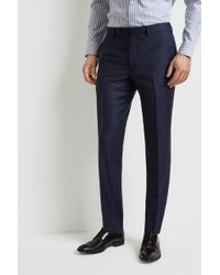 Ermenegildo Zegna - Tailored Fit Blue Marl Trousers - Lyst