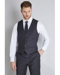 Ted Baker - Tailored Fit Grey Pindot Waistcoat - Lyst