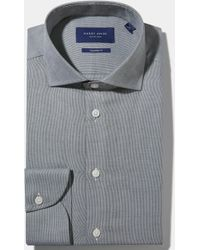 Hardy Amies - Tailored Fit Green Single Cuff Melange Shirt - Lyst