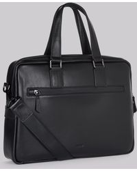 DKNY - Black Leather Business Bag - Lyst