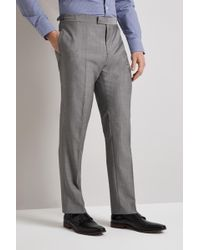 Hardy Amies - Tailored Fit Light Grey Pindot Mohair Blend Trouser - Lyst