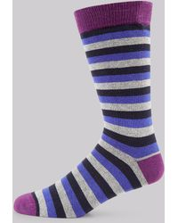Ted Baker - Navy Stripe Socks - Lyst