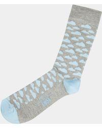 Moss London - Grey Cloud Sock - Lyst