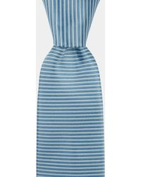 DKNY - Sky Blue Horizontal Stripe Tie - Lyst