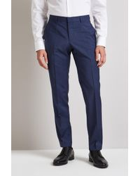 HUGO - Blue Prince Of Wales Trousers - Lyst