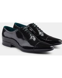 Ted Baker - Sharney Black Patent Toe Cap Oxford - Lyst